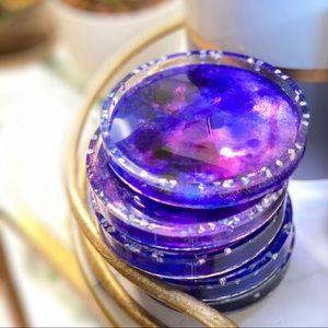 Galaxy Coaster Set of 8 House Decor—purple, blue